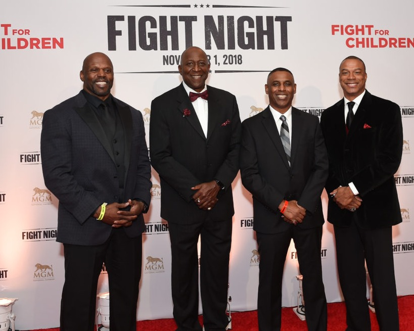 NFL players red carpet fight the children fight night