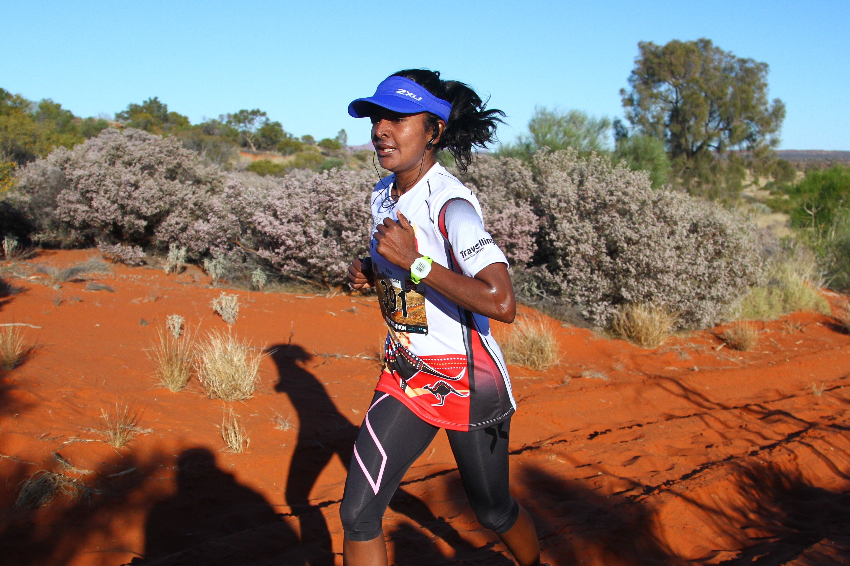 runner in australian outback marathon