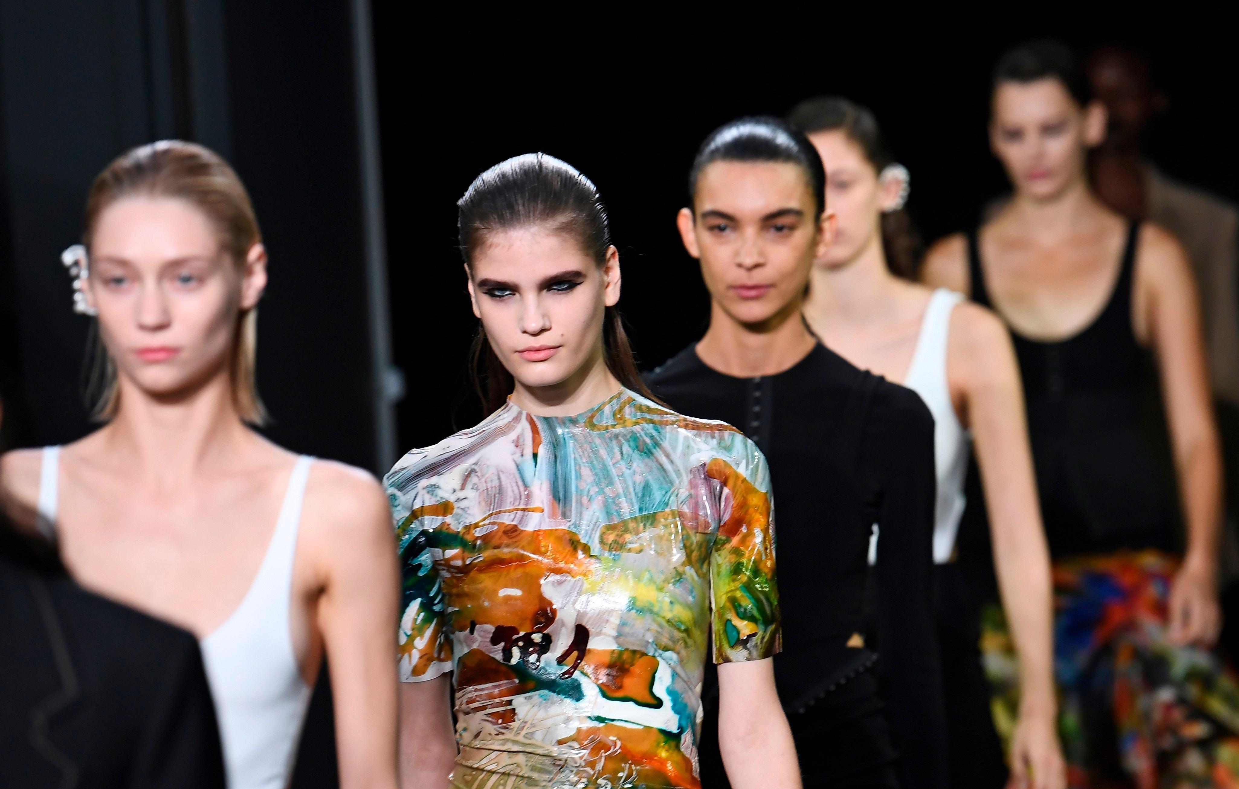 models on the runway at paris fashion week
