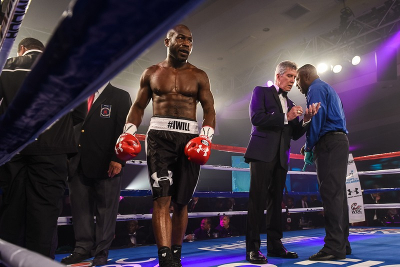 Fighter in ring at fight for children's fight night