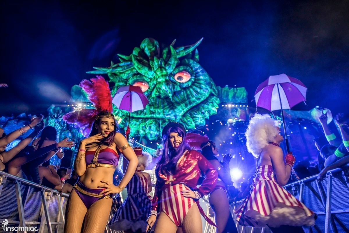 women in costumes at Electric Daisy Carnival