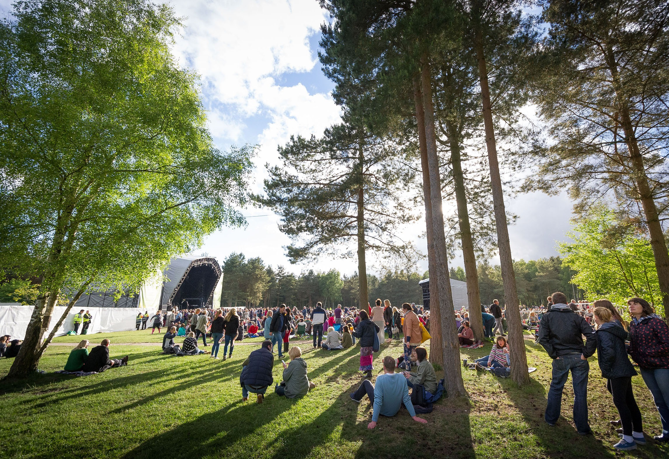 stage and trees at forest live festival