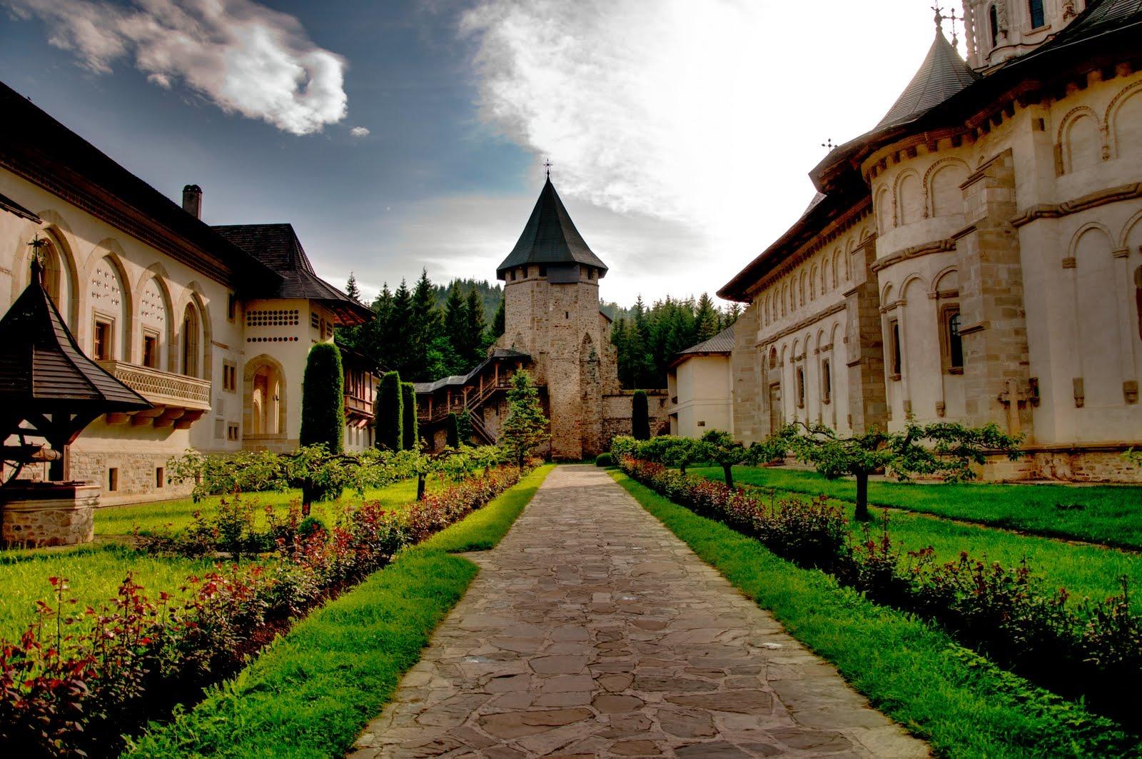 beautiful romanian monastery