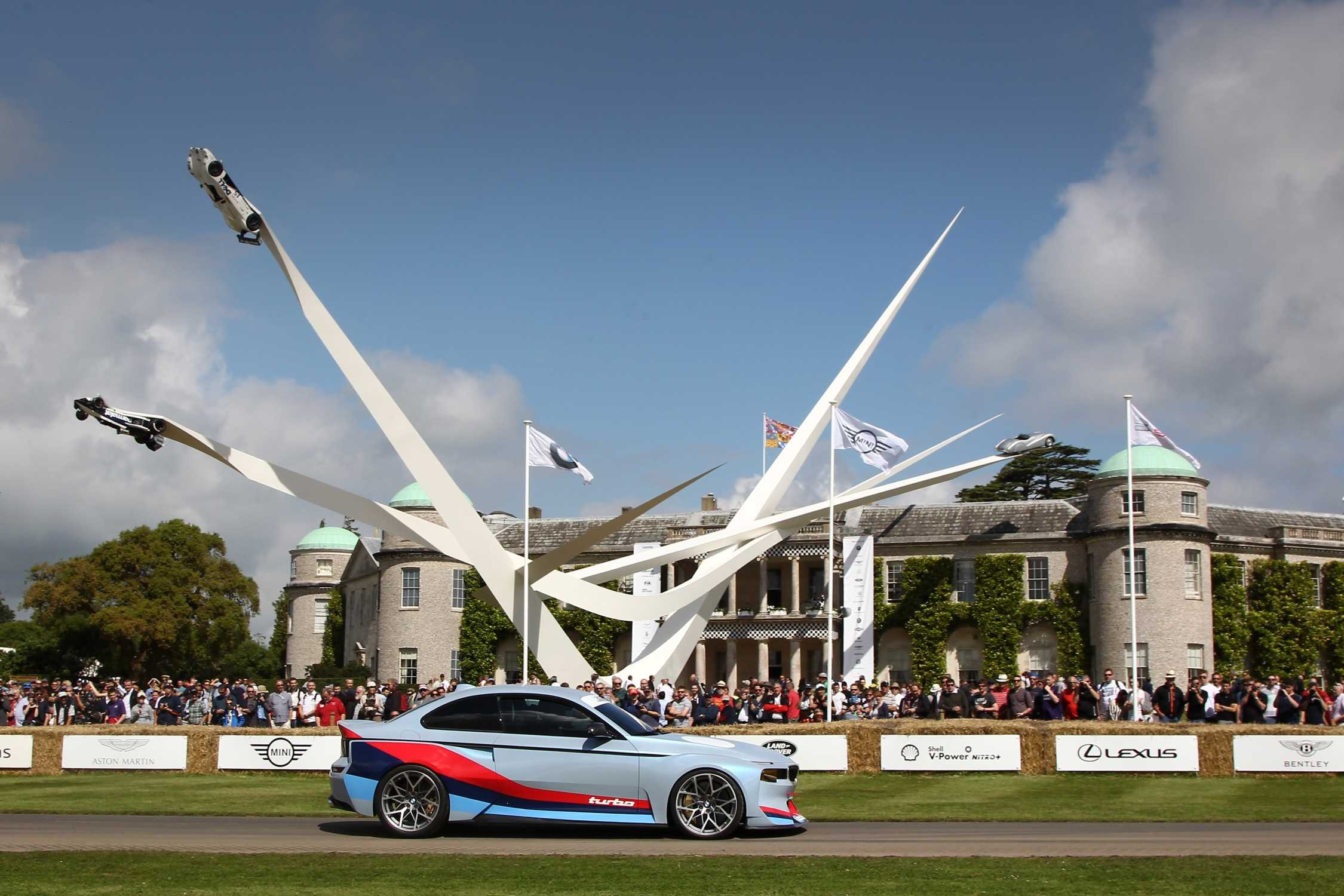 car and sculpture at goodwood festival of speed