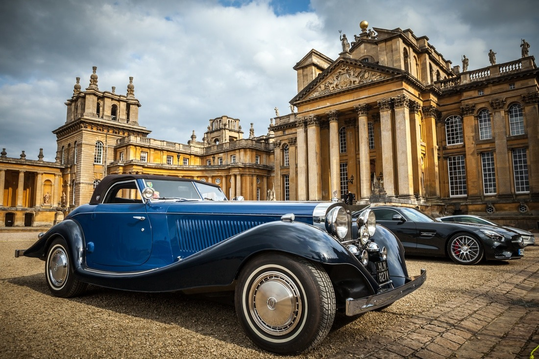 classic car at salon prive