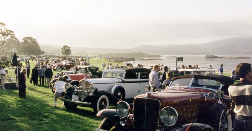 cars at show on pebble beach