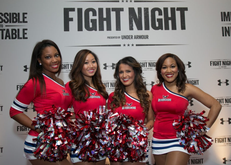 cheerleaders at fight the children's fight night