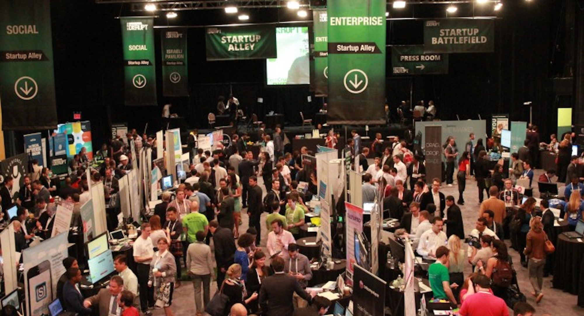 tech crunch disrupt conference and exhibitors