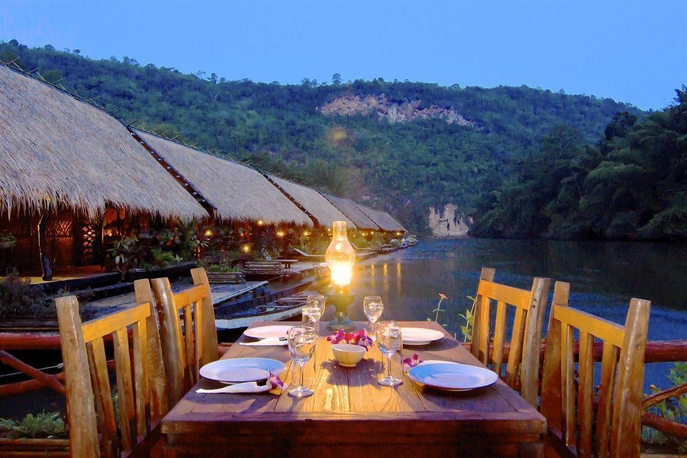 Evening dinner at River Kwai Jungle Rafts