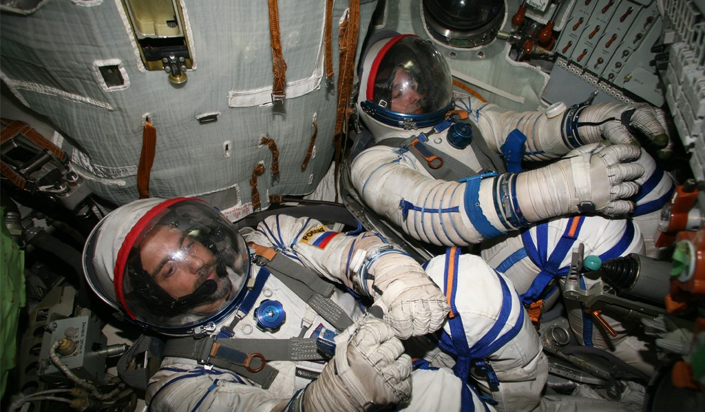 Astronauts getting ready to launch