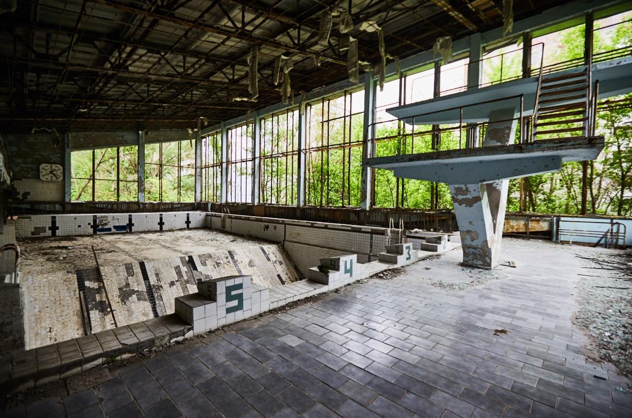 Swimming pool in Chernobyl