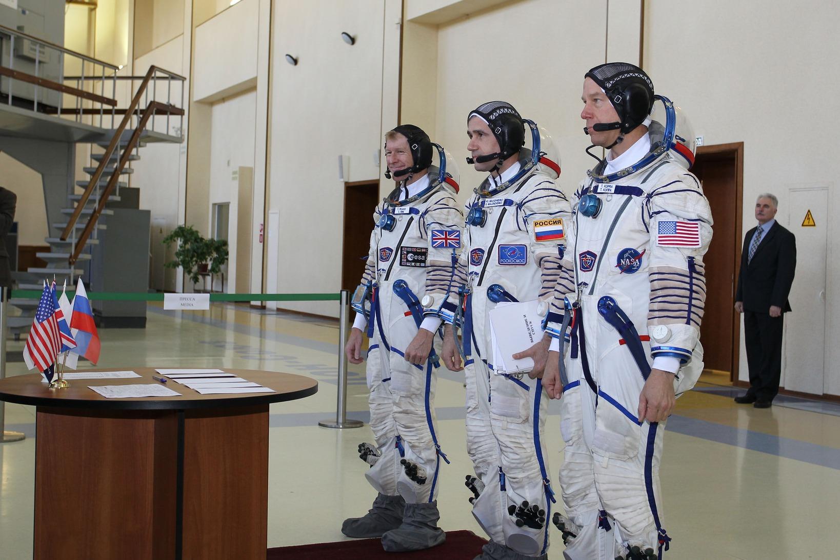 Space Flight Training astronauts