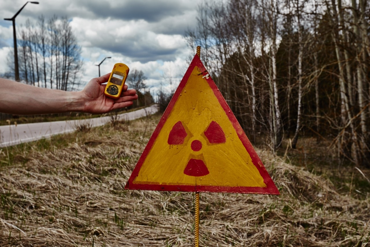 Checking radiation levels on Tour Chernobyl