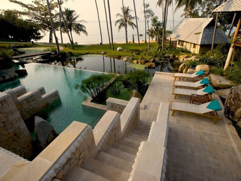 Kamalaya Detox Spa pool and beach