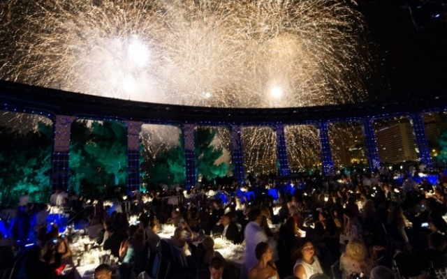 Partygoers at the Monte Carlo Summer Festival