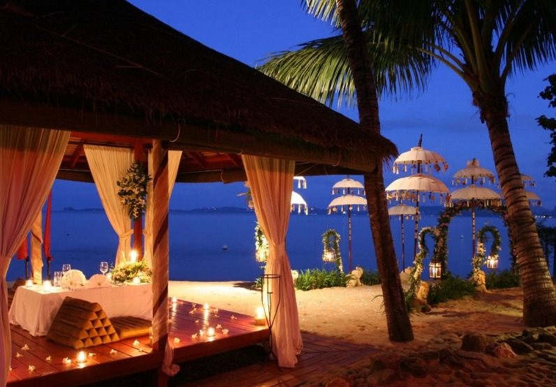 Candlelit beach dinner at la campagne tropicana resort