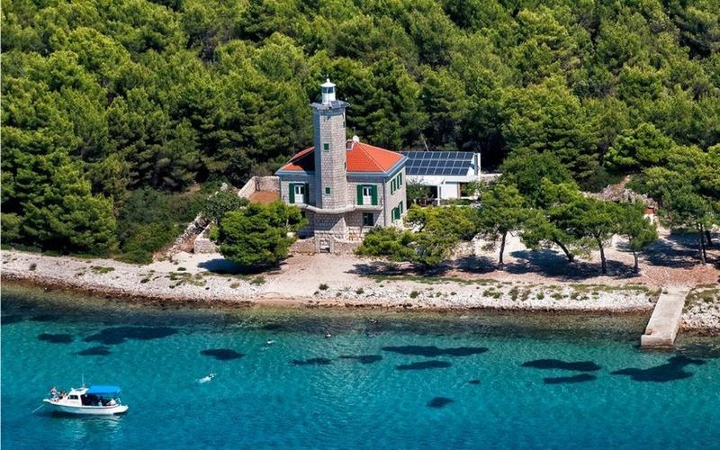 5 star croatian lighthouse and the sea
