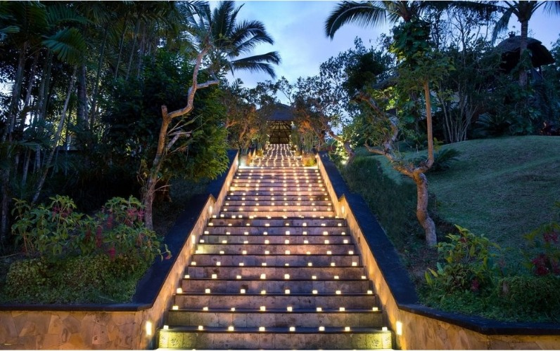 Steps leading up to the Hanging Gardens of Bali