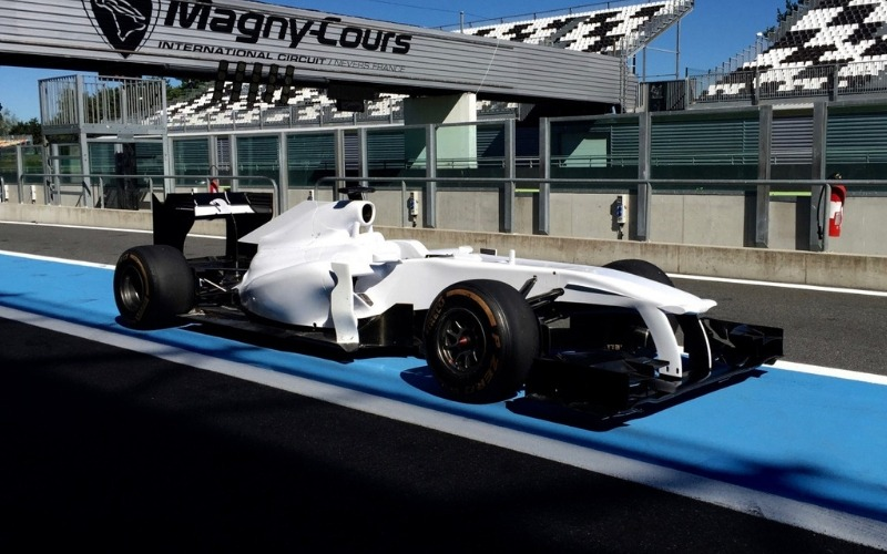 Formula 1 car on Magny Cours