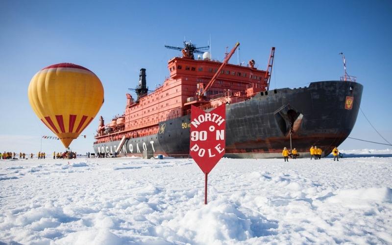 North Pole Arctic Adventure the North Pole marker