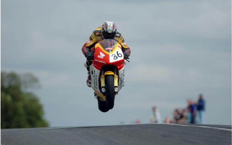 biker competing at Isle of Man TT