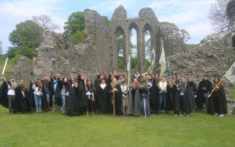 A group on the Game of Thrones Tour, Northern Ireland