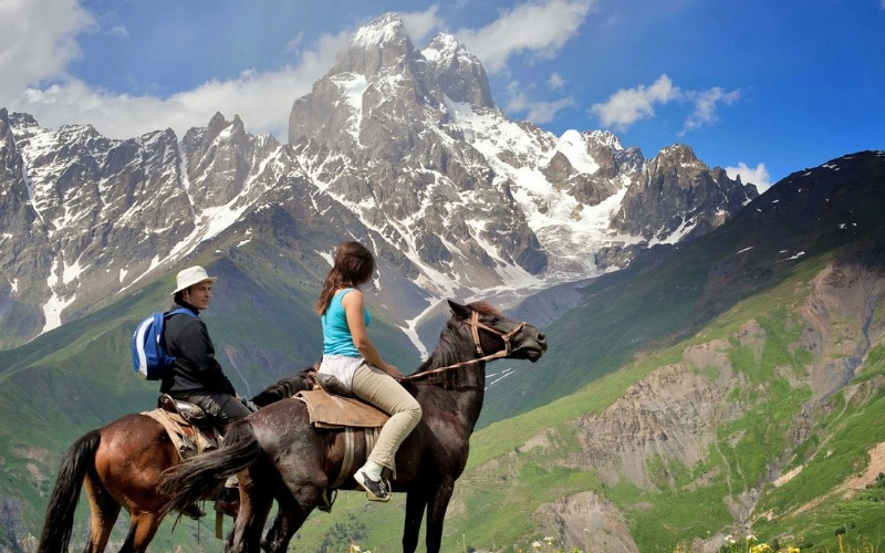 horse trekking in Svaneti, Trek the Caucasus Mountains on Horseback