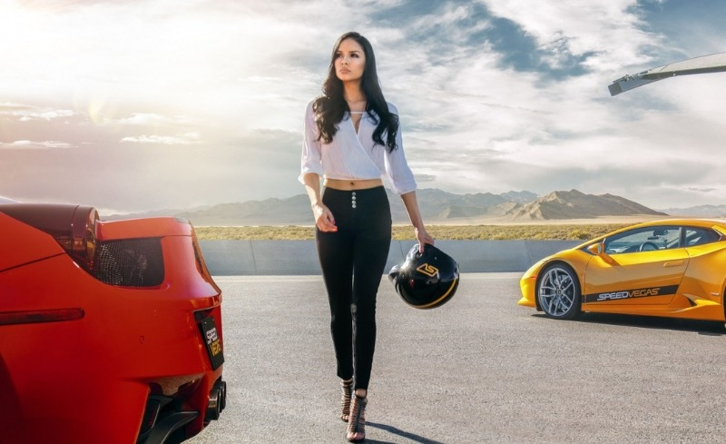 Speedvegas woman on track with supercars
