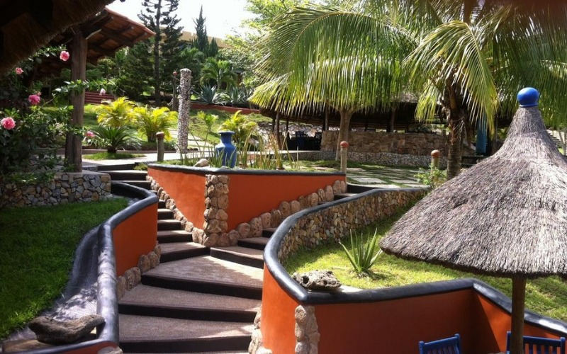 The grounds at Hillburi Mountain Escape in Ghana
