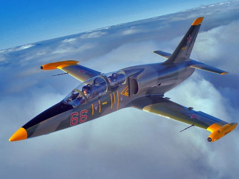 man flying a fighter jet