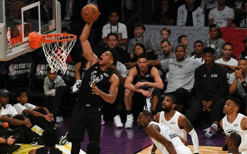 Player scoring at NBA all star game