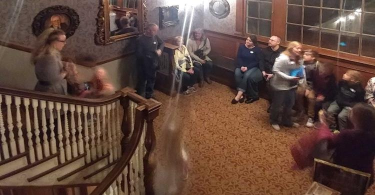 Ghost image with people staying at Stanley House