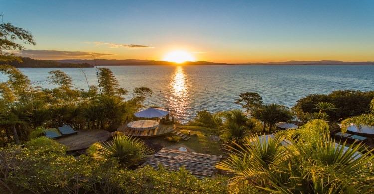 sunset at brazilian-island-getaway YES island