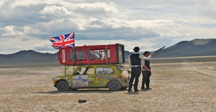 British team at the Mongol rally