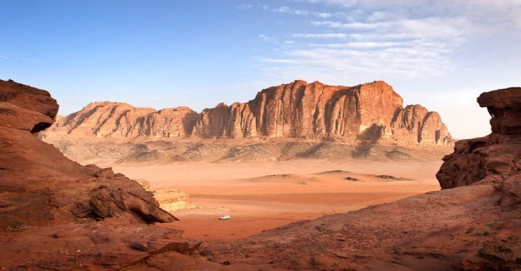 beautiful view of desert at wadi rum