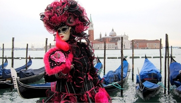 luxury masquerade party of the Venice Carnival