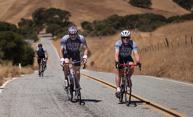 Cyclists competing at Silver State 508