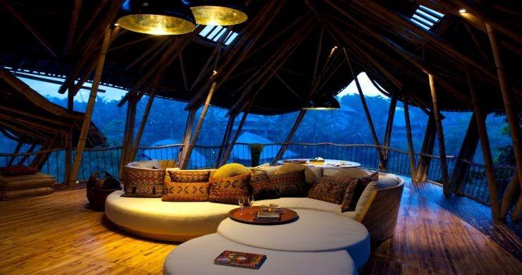 Inside Bali Bamboo Palace living room