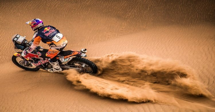 Rider on sand at Finke Desert Race