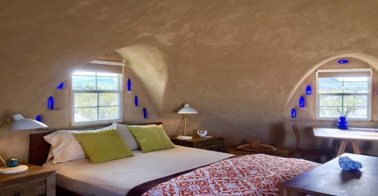 Inside Off Grid Adobe Desert Dome