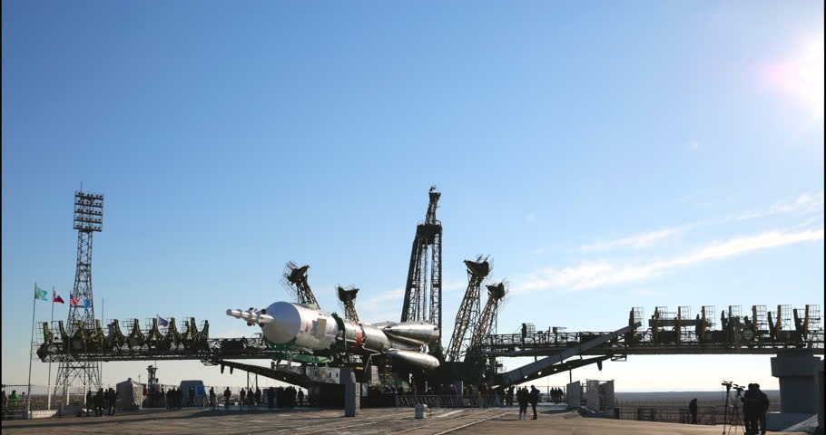 Launchpad of Kazakhstan space rocket