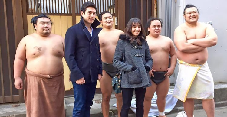 Fans meet Sumo Wrestlers