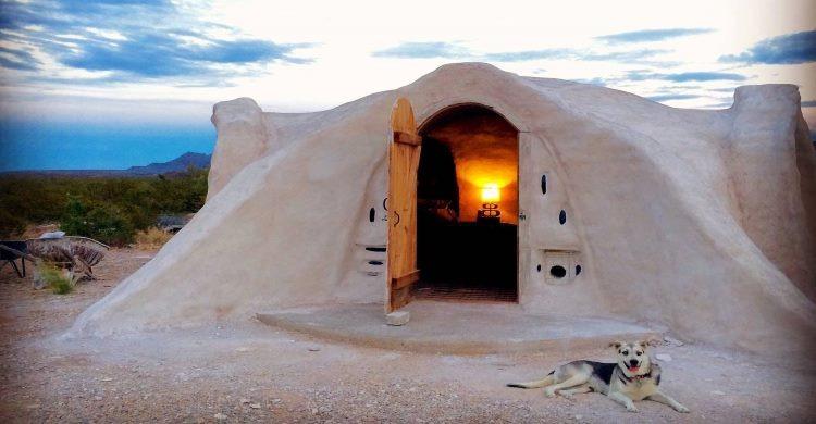 Entrance to Adobe Desert Dome