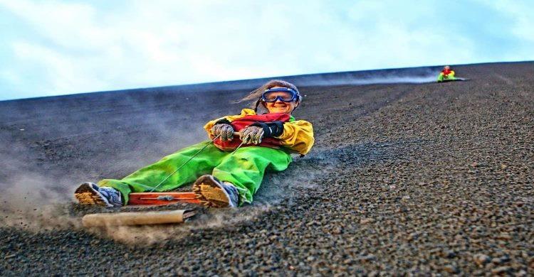 Nicaragua Volcano Boarding woman
