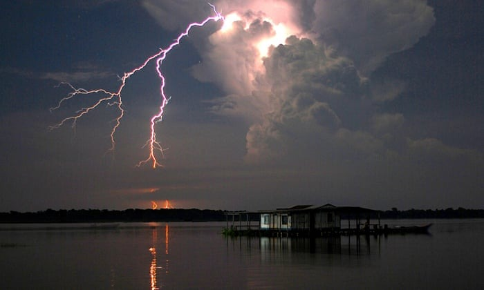 Catatumbo lightning striking up to 300 times a year