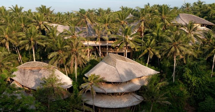 View from above Bamboo Palace Bali