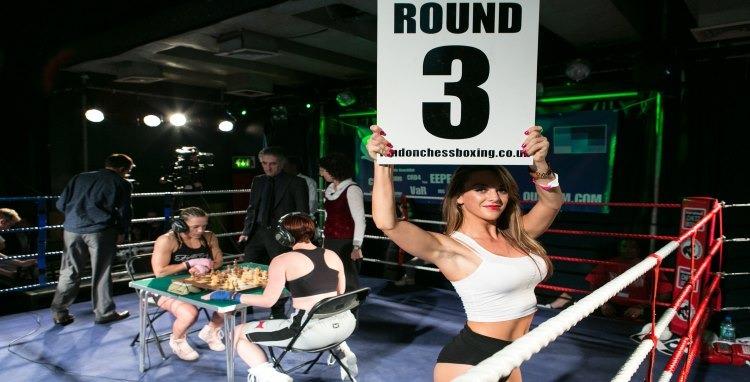 Women chess boxing