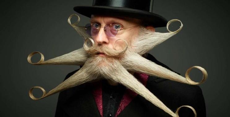 Full Beard Freestyle 2017WBMC star shaped beard moustache