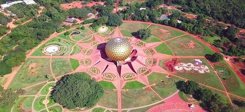 Matri Mandir from aerial