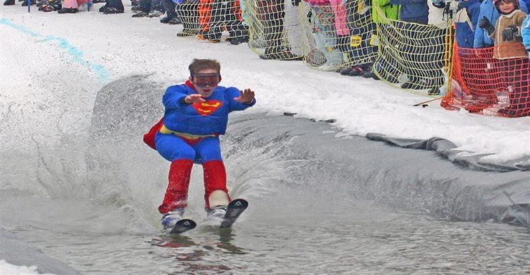 Superman at Alaska's premier ski resort